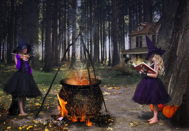 Halloween theme with 2 lovely witches. Wicked & Wondeful- Fairytale shoot by Photo Osenga