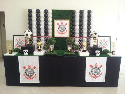 Farolita Decoração de Festas Infantis: Corinthians
