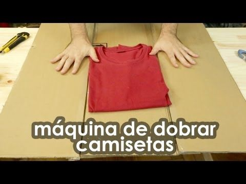 Aprenda a fazer em casa a super máquina de dobrar camisetas!