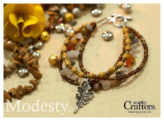 Boho bracelets brown Modesty by WackyCrafters on Etsy, $12.50