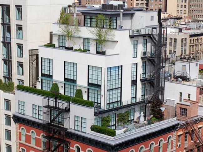 A townhouse in the sky in TriBeCa
