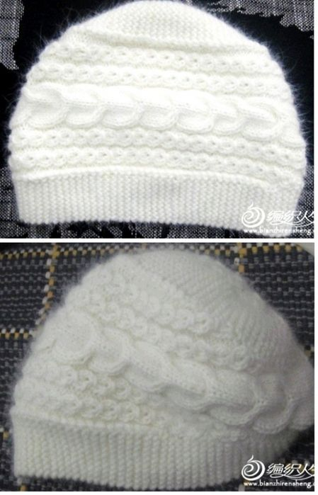cable knit hat - I think the instructions are in Cyrillic.. we'll see what I can make of that!
