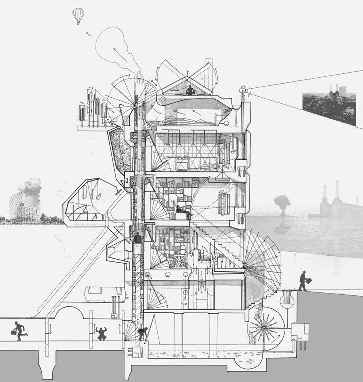 Best Secciones Images On Pinterest Architecture Drawings