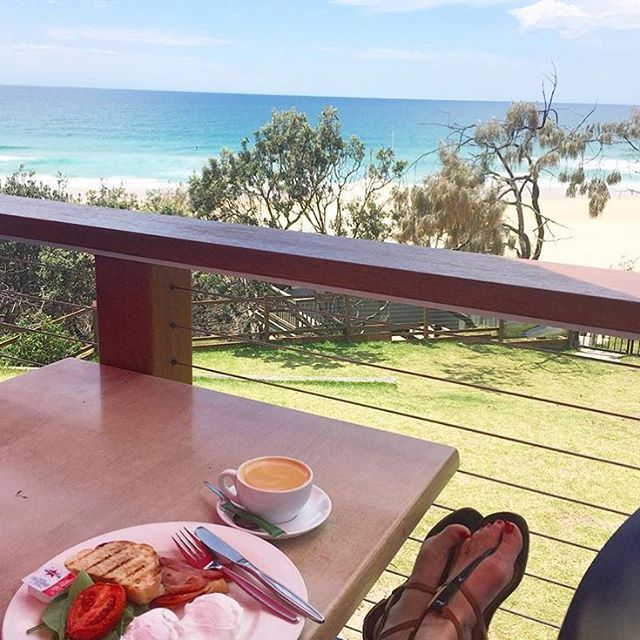 Sensational ocean views combined with yummy food at the Sunshine Beach Surf Club make for the perfect breakfast stop!