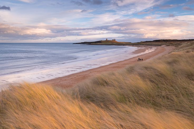 Romantic castle ruins, miles upon miles of golden sands, rolling surf and dunes – what more could a landscape photographer wish for? Northumberland is