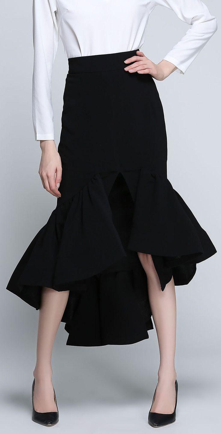Asymmetric Mermaid Skirt
