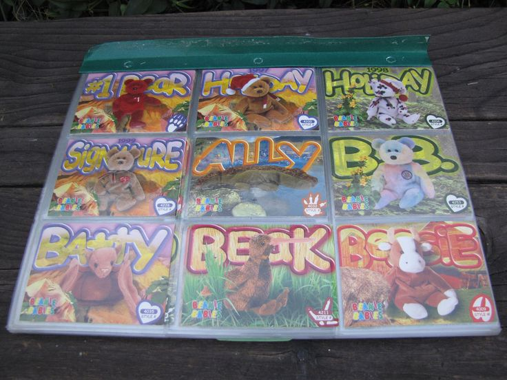 Ty Beanie Baby Collector Cards 102 cards and 25 Glow in the Dark Stickers #Ty