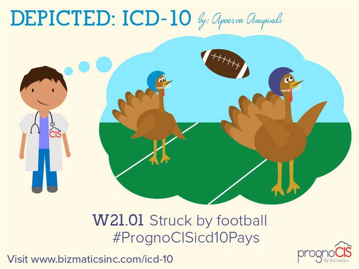 ICD-10 Humor: Struck by football