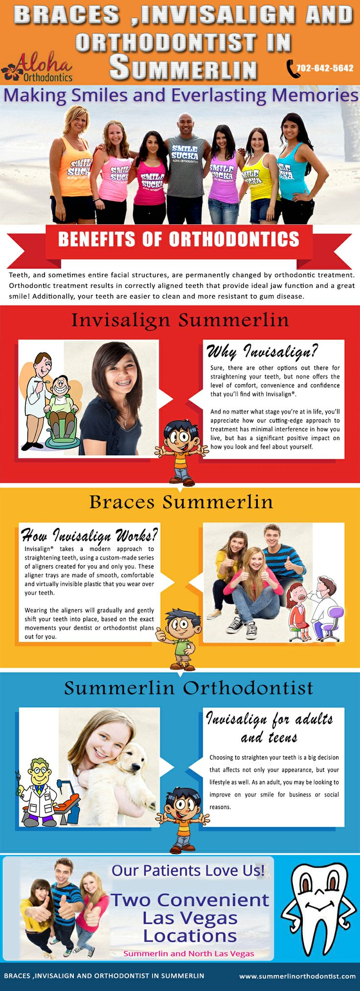 Visit our site http://summerlinorthodontist.com for more information on Invisalign Summerlin.Words malocclusion means that there is a trouble with the way you bite adverse things. Orthodontic braces are made to obtain the bite back in the best position so you could not just really feel better by a great deal better too. Braces Summerlin are devices that it used to remedy the dental troubles with the positioning of the teeth and jaws.