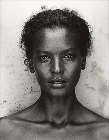 Liya Kebede-- stunning! Kebede is an Ethiopian-born model, maternal health advocate, clothing designer and actress who has appeared three times on the cover of US Vogue. She was originally spotted while attending Lycee Guebre Mariam in Addis Ababa. She first modeled in France and then relocated to New York City. --Wikipedia