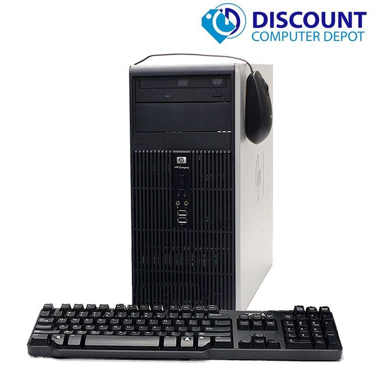 HP Windows 10 Pro Desktop Computer Tower PC Core2Duo 8GB 1TB DVD WiFi  Key-Mice…