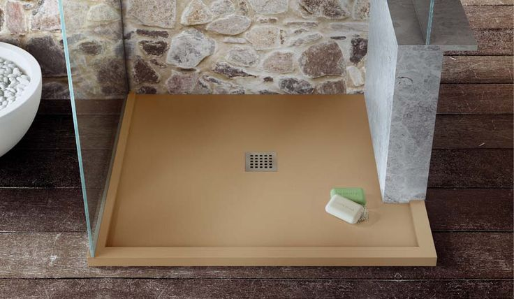Fiora Bespoke Shower Tray With Central Flush Waste Silex