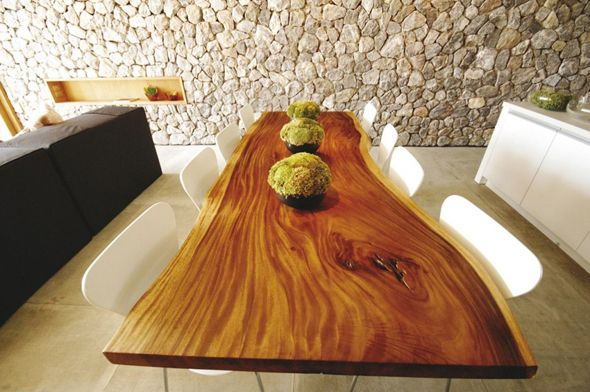 Perfect dinning room table from single cut of wood.