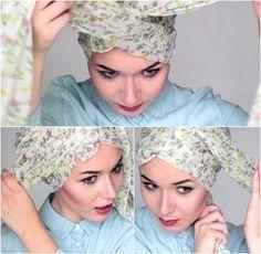 Tutorial Hijab Turban Tanpa Jarum untuk Musim Dingin
