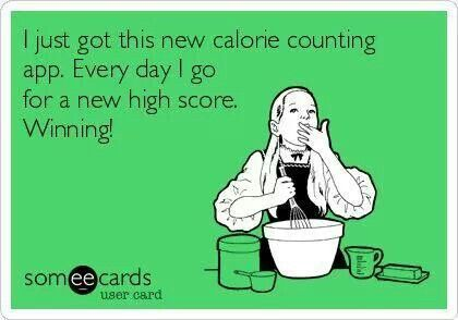I just got this new calorie counting app.....