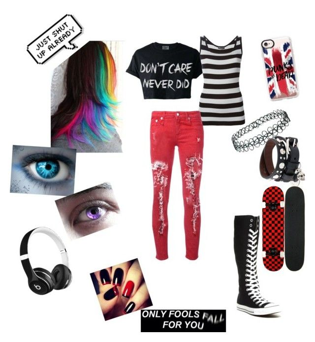 """""""Sketch"""" by horrorinsanity13 ❤ liked on Polyvore featuring Casetify, Converse, Topshop, Dolce&Gabbana, Beats by Dr. Dre, Alexander McQueen and R13"""