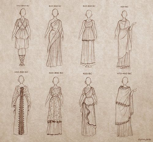 rafawriter: Ancient Greek Dresses by Ninidu