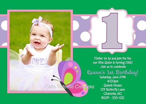 Butterfly Birthday Party Invitations by Cutie Patootie Creations