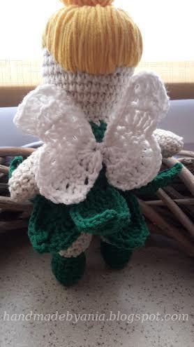 Crochet doll - tinkerbell crochet wings