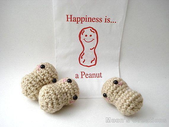 Bag of Peanuts Amigurumi  Three Peanut Dolls