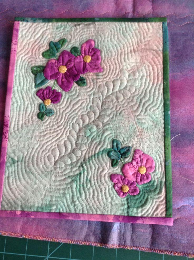 Applique and machine quilting miniature quilt