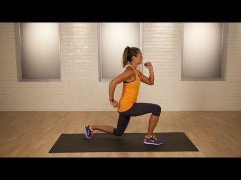 One-Minute Bikini-Booty Challenge: Split Lunge Jumps