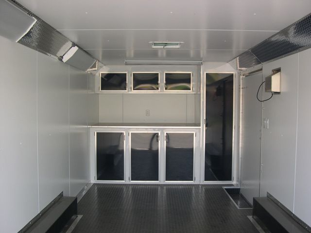 CarMate 8.5x20 Enclosed Car Trailer - 7K Black & Silver 2-Tone CUSTOM!