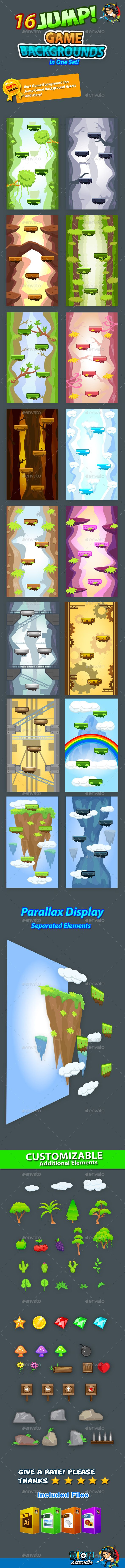 Jump Game Backgrounds in One Set Download here: https://graphicriver.net/item/jump-game-backgrounds-in-one-set/11069562?ref=KlitVogli