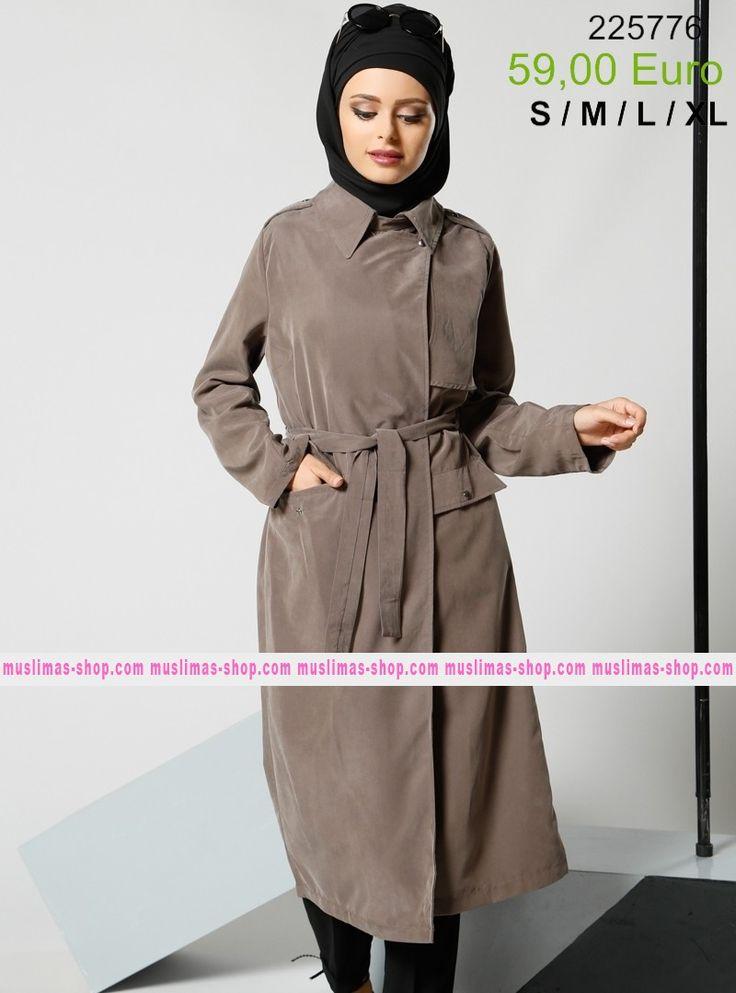 Le nostra offerta #vestitoislamico per la donna #musulmana  Shawl Collar Topcoat - Refka - Fabric Info:  70% Cotton  30% Polyester   - SKU: 215196. Buy now at http://www.muslimas-shop.com/shawl-collar-topcoat-refka.html