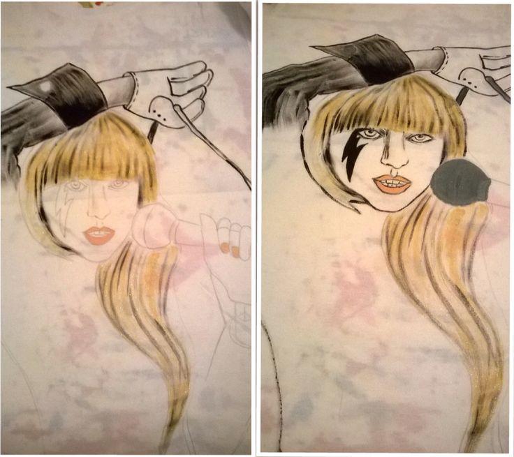 Dipingendo LadyGaga su maglietta
