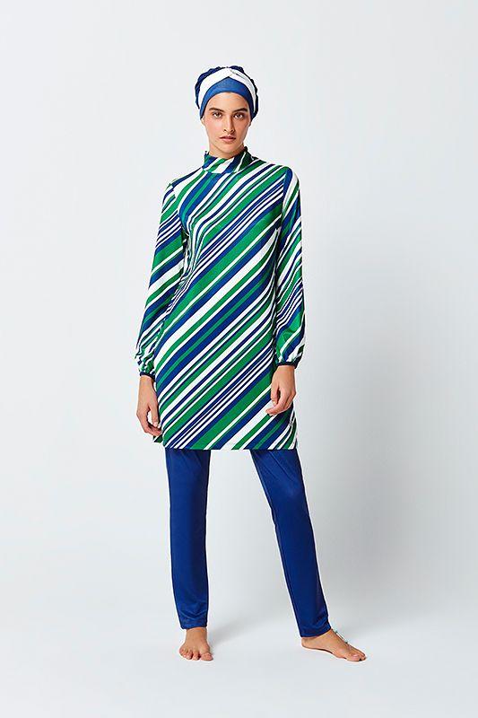 c4aead29770 Mayovera Striped Swimwear Burkini Islamic Swimwear Muslim Swimsuit For Women,  Special Design Best Price Modest Style Secure Shopping Free Shipping Shop  Now