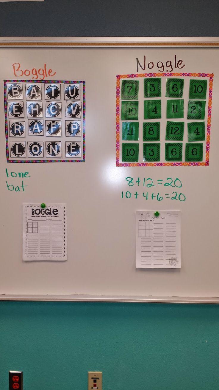 Classroom Math Games - Boggle, Noggle, & 20 Questions