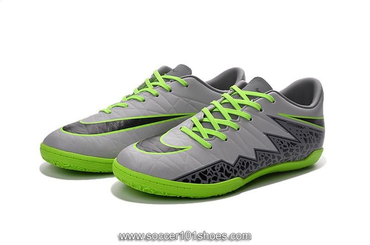 Nike Men's Hypervenom Phelon II IC Indoor Football Soccer Shoes Grey Green  $73.00