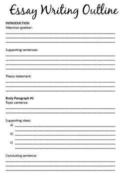 Writing Persuasive Essay Graphic Organizer