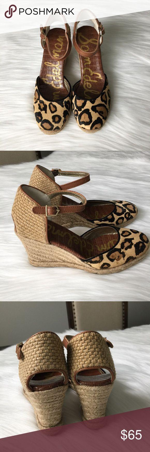 Sam Edelman Leopard Espadrilles Wedge Size 5 Super cute! Brand new with box. 100% authentic. Size 6. Sam Edelman Shoes Wedges