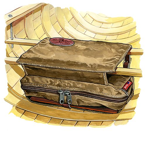 Frost River Seat Pad and Bag No.784 Illustration by Rick Kollath