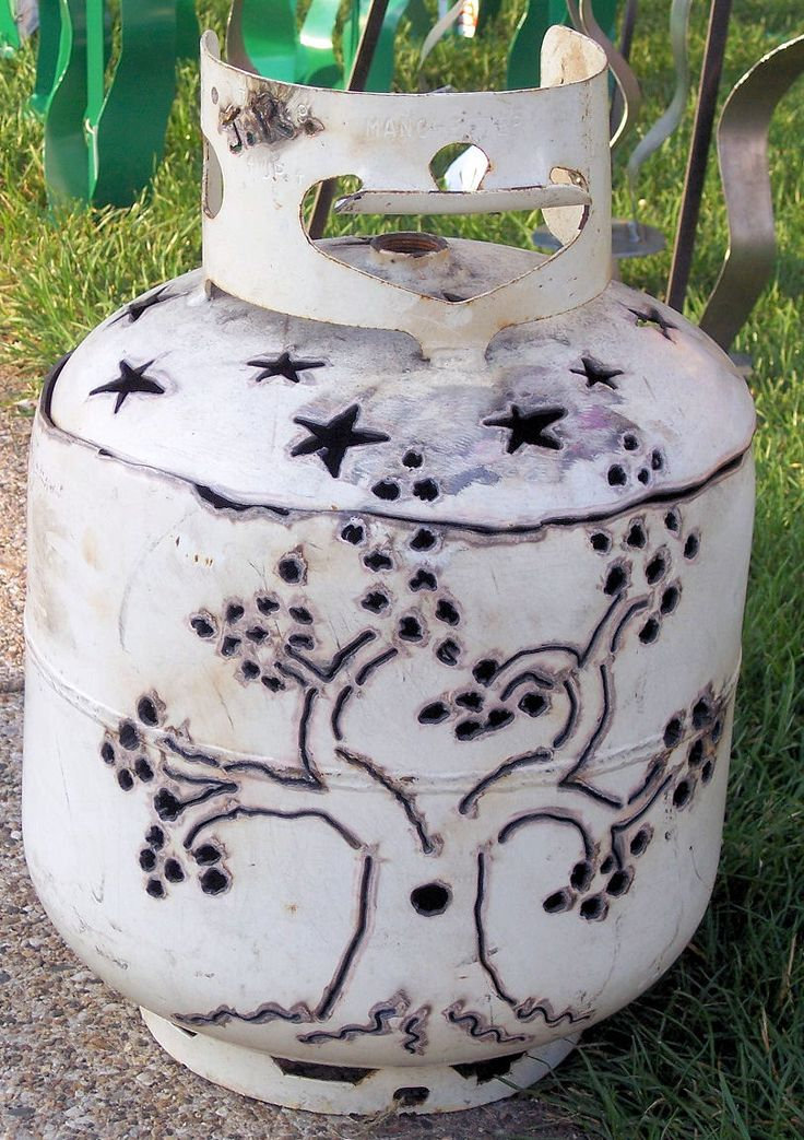 Above are a few tank designs I made here this past weekend for the market.  They're made from old 20 lb propane tanks.  They make ve...