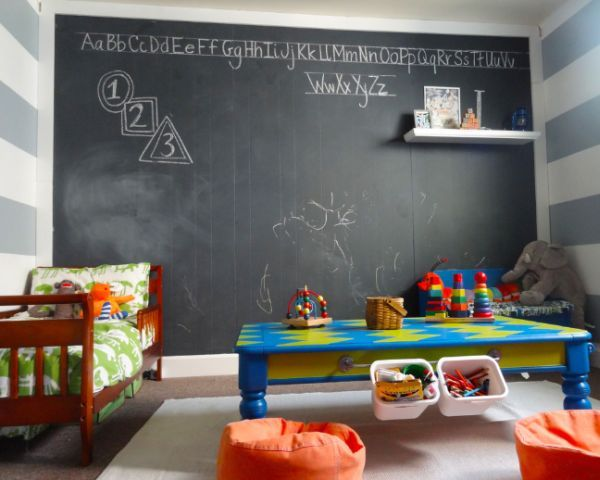 chalkboard paint | after that just paint the surfaces with the chalkboard paint you would ...