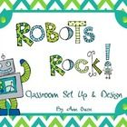 Give your classroom a new look. Fun Robot Classroom Set Up will be a hit with your students and put a smile on your face too!   Set includes:   ~ Wel...