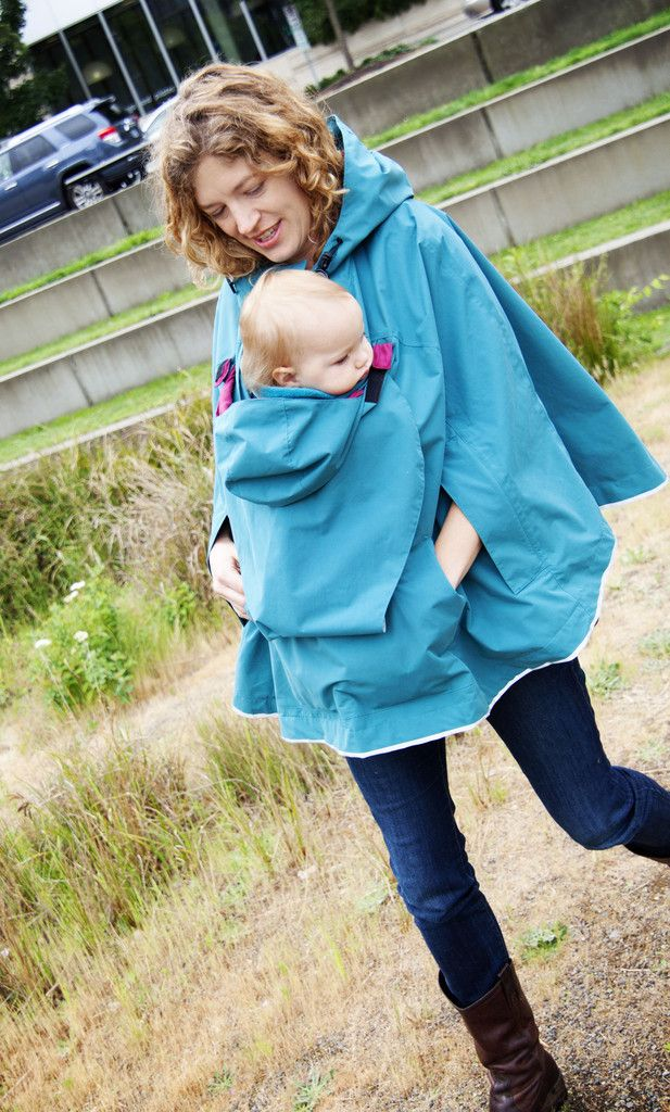 Baby-wearing poncho. I liked it better before I saw it cost $189! Better rain a lot for that thing.