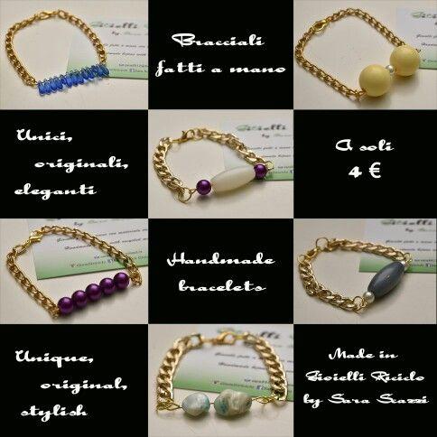 Bracciali fatti a mano a soli 4€ #jewelry #jewels #LikesWithTags #jewel #fashion #gems #gem #gemstone #bling #stones #stone #trendy #accessories #love #crystals #beautiful #ootd #style #fashionista #accessory #instajewelry #stylish #cute #jewelrygram #fashionjewelry #bracelets #bracciali  #handmade #fattiamano #handmadebracelets Get more @LikesWithTags