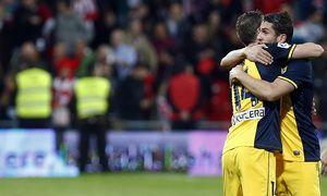 Abrazo de Gabi y Koke en el segundo gol rojiblanco