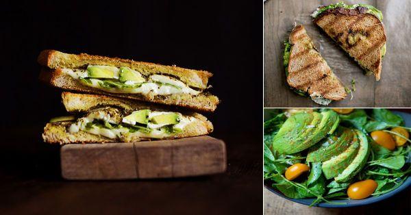 Sándwich verde fresco y saludable