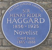 H. Rider Haggard - Wikipedia