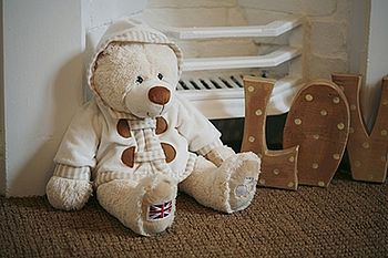 Personalised teddy - you can get a name embroidered onto the back of the bear's jacket