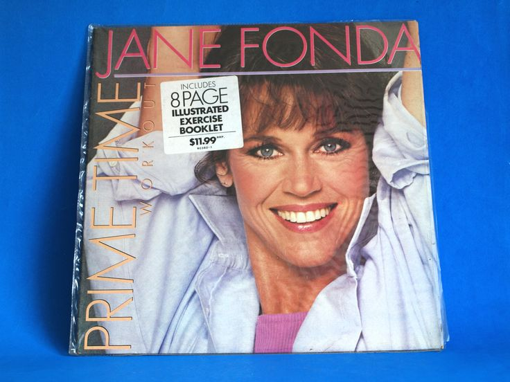 Jane Fonda Prime Time Workout Records with Booklet - 1984 Vintage Retro Aerobics Vinyl Elektra LP - Flashdance by FunkyKoala on Etsy