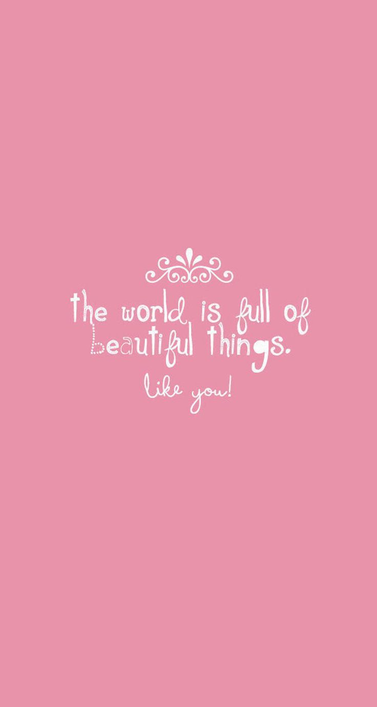 The world is full of beautiful things!