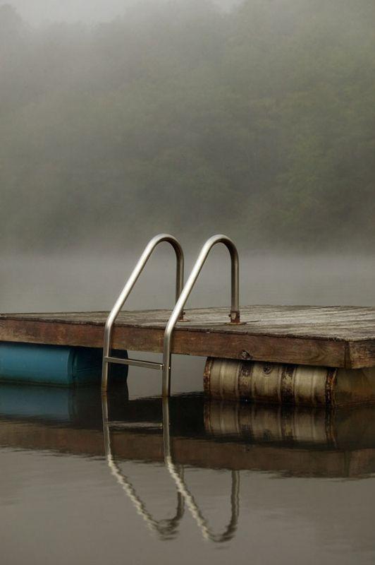 Dock; Lake Guymard by Marc Yankus