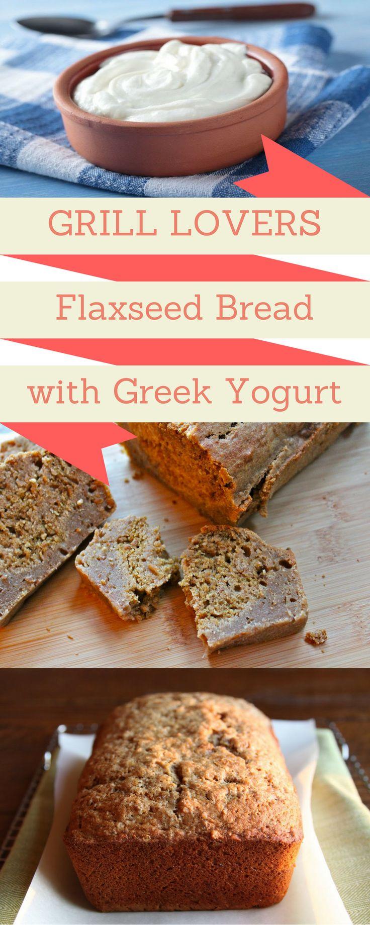 Grill Lovers' Amazing Flaxseed Bread with Greek Yogurt Recipe   #recipes #foodporn #foodie