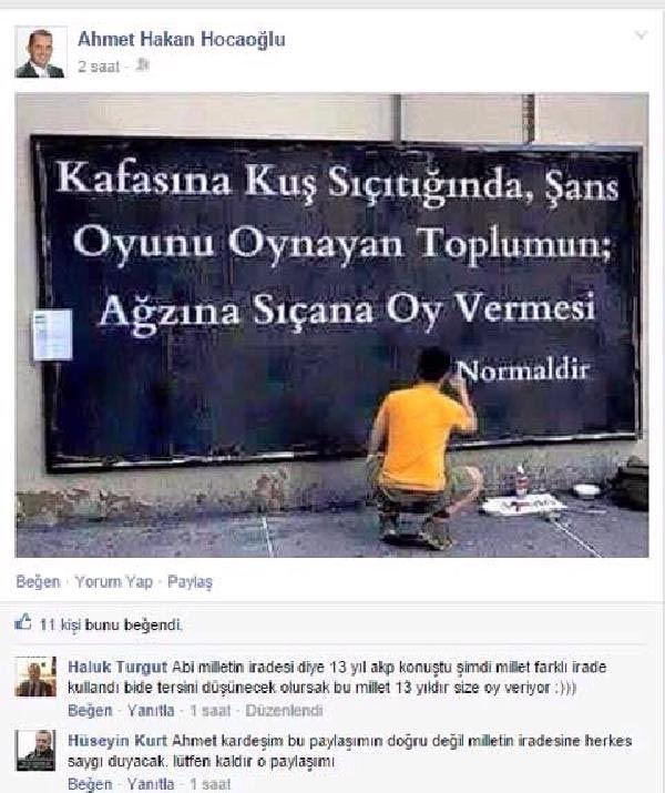 Kocaeli'nin Darıca İlçesi'nde AKP'li Belediye Meclis üyesi AKP'nin tek başına iktidarı gidince halka hakarete başladı.